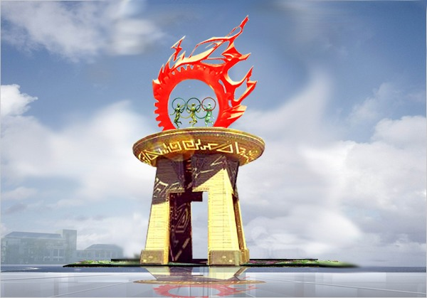 新疆体育中心_武汉瑞合雕塑制作厂家
